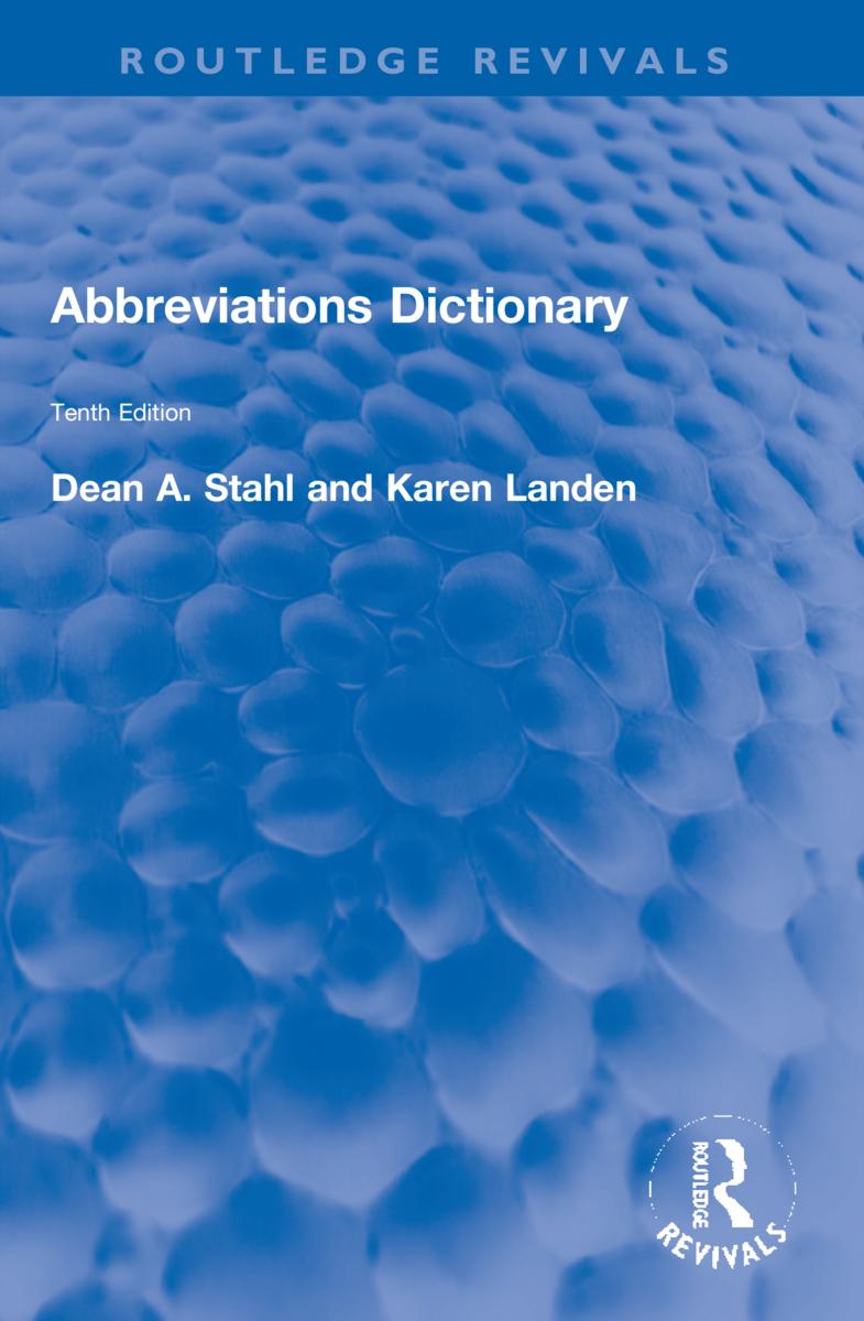 Abbreviations Dictionary book cover
