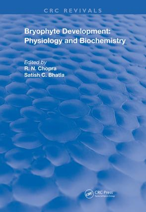 Bryophyte Development: Physiology and Biochemistry book cover
