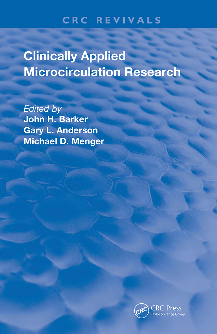 Clinically Applied Microcirculation Research: 1st Edition (Hardback) book cover