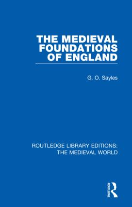 The Medieval Foundations of England book cover