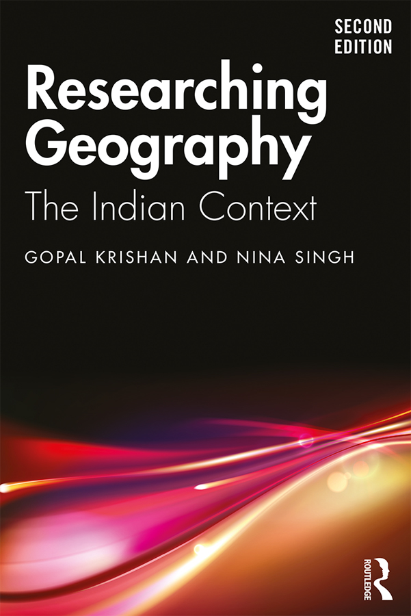 Researching Geography: The Indian Context book cover