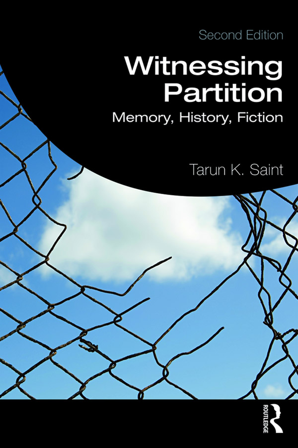 Witnessing Partition: Memory, History, Fiction book cover