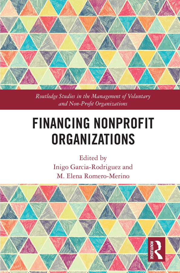Financing Nonprofit Organizations book cover
