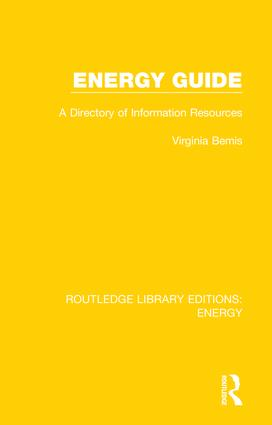 Energy Guide: A Directory of Information Resources book cover