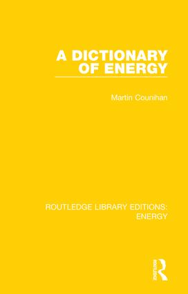 A Dictionary of Energy book cover