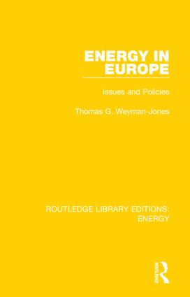 Energy in Europe: Issues and Policies, 1st Edition (Hardback) book cover
