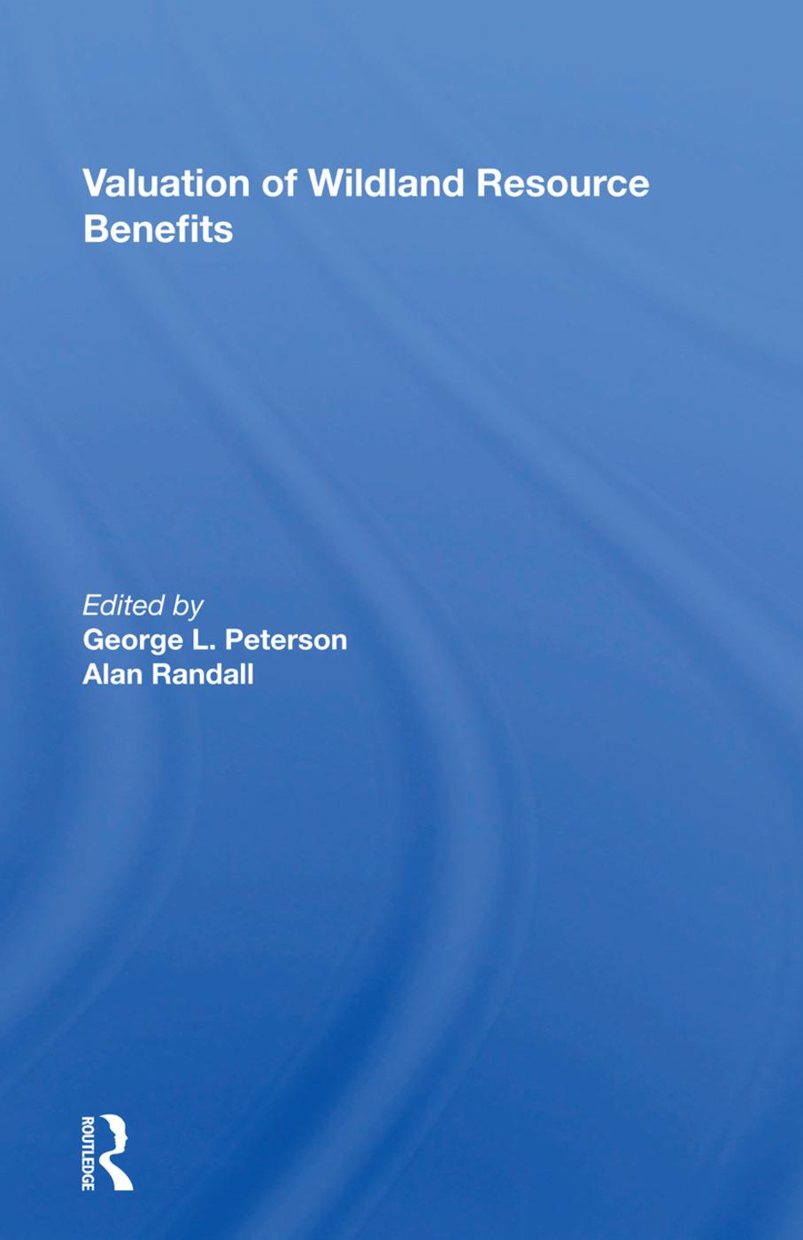 Valuation Of Wildland Resource Benefits book cover
