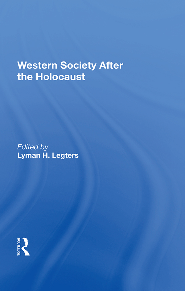 Western Society After The Holocaust book cover