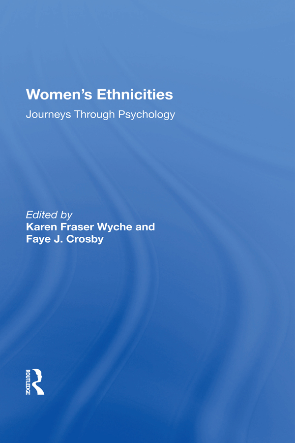 Women's Ethnicities: Journeys Through Psychology book cover