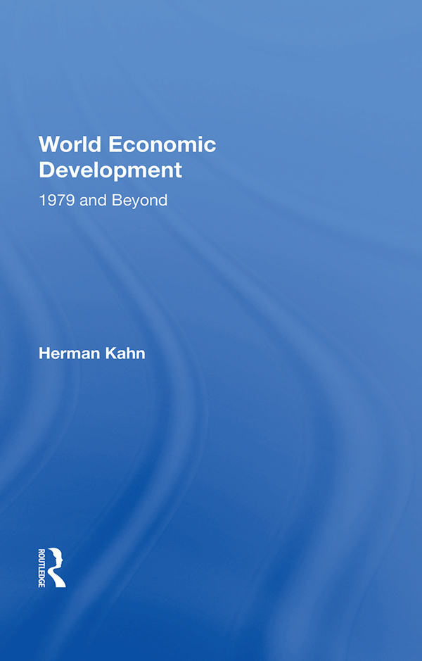 World Economic Development: 1979 And Beyond book cover