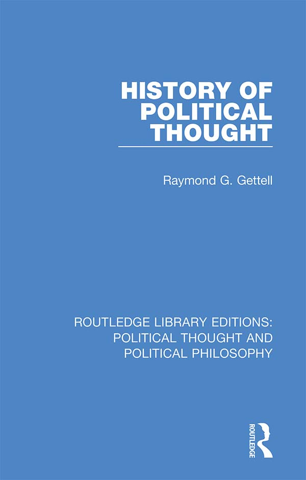 History of Political Thought book cover