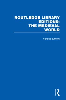 Routledge Library Editions: The Medieval World book cover