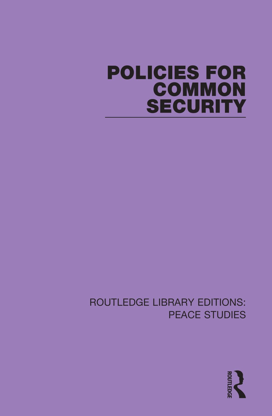 Policies for Common Security book cover