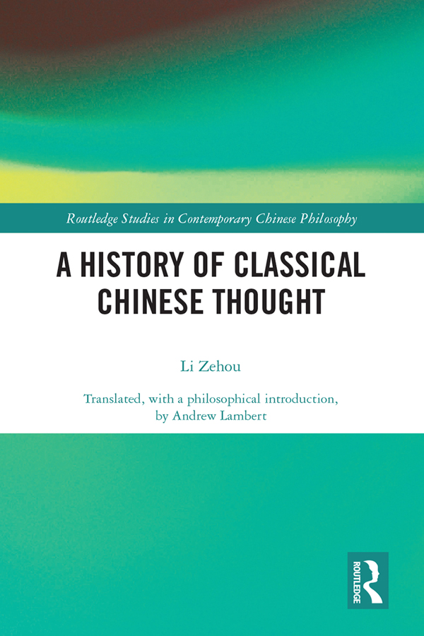 A History of Classical Chinese Thought book cover