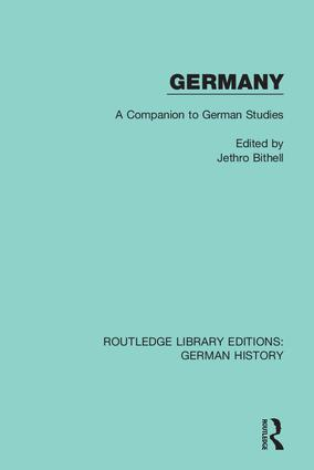 Germany: A Companion to German Studies book cover