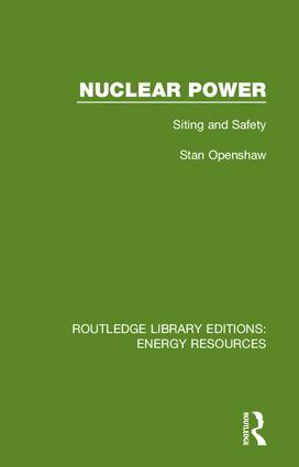 Nuclear Power: Siting and Safety book cover