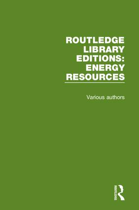 Routledge Library Editions: Energy Resources book cover