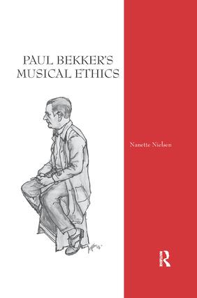 Paul Bekker's Musical Ethics book cover