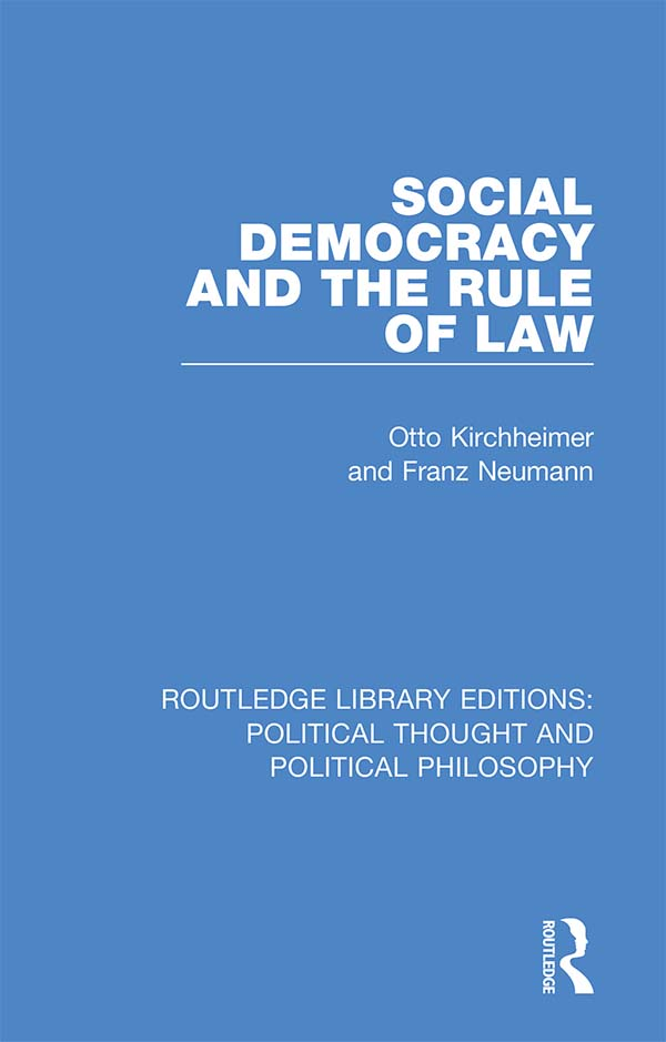 Social Democracy and the Rule of Law book cover