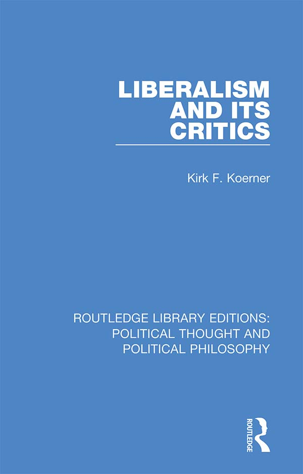 Liberalism and its Critics book cover