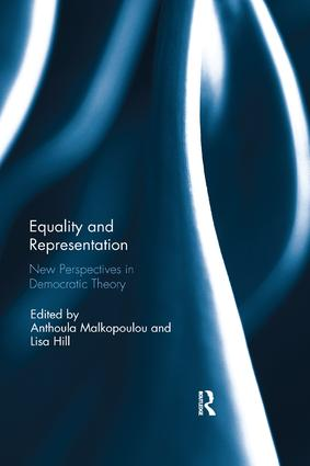 Equality and Representation: New Perspectives in Democratic Theory, 1st Edition (Paperback) book cover
