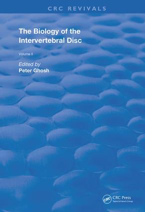 The Biology of the Intervertebral Disc: 1st Edition (Hardback) book cover
