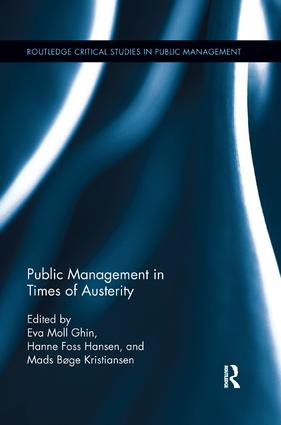 Public Management in Times of Austerity: 1st Edition (Paperback) book cover