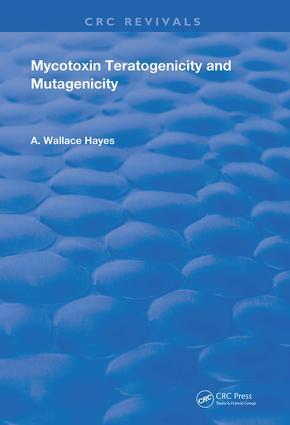Mycotoxin Teratogenicity and Mutagenicity book cover