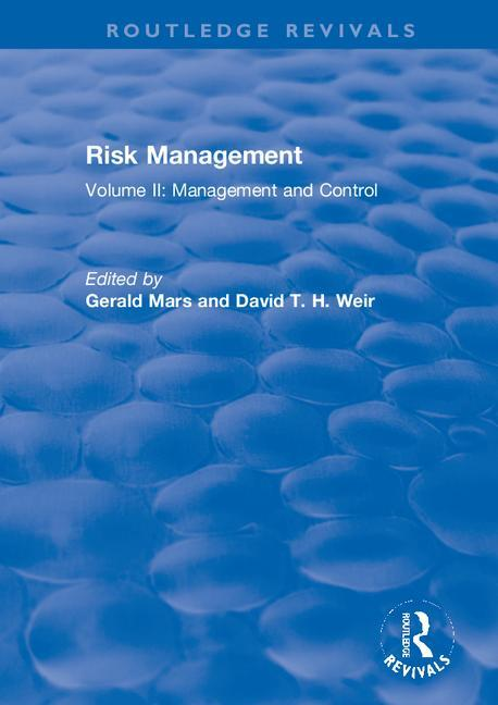 Risk Management: Volume II: Management and Control, 1st Edition (Paperback) book cover