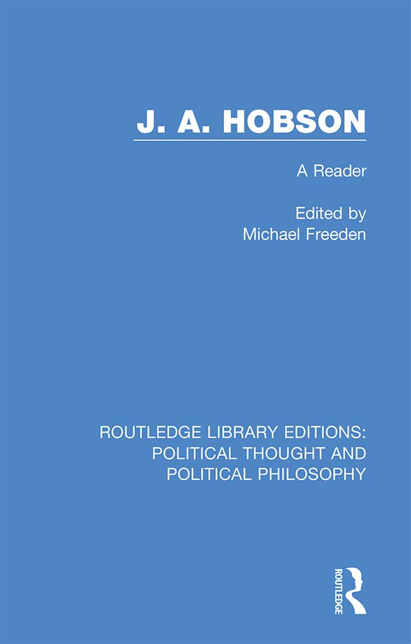 J. A. Hobson: A Reader, 1st Edition (Hardback) book cover
