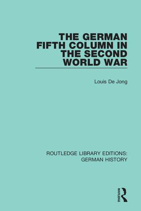 The German Fifth Column in the Second World War book cover