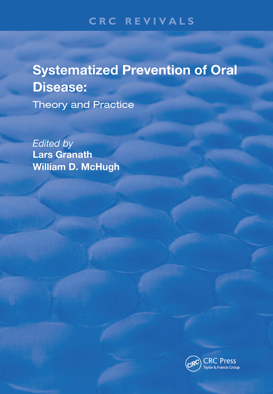 Systemized Prevention of Oral Disease: Theory and Practice book cover