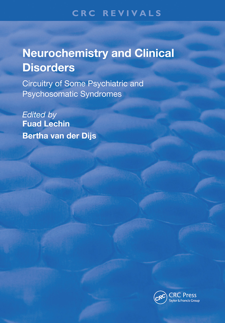 Neurochemistry & Clinical Disorders: 1st Edition (Hardback) book cover