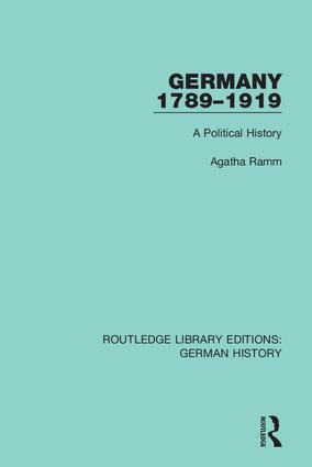 Germany 1789-1919: A Political History book cover