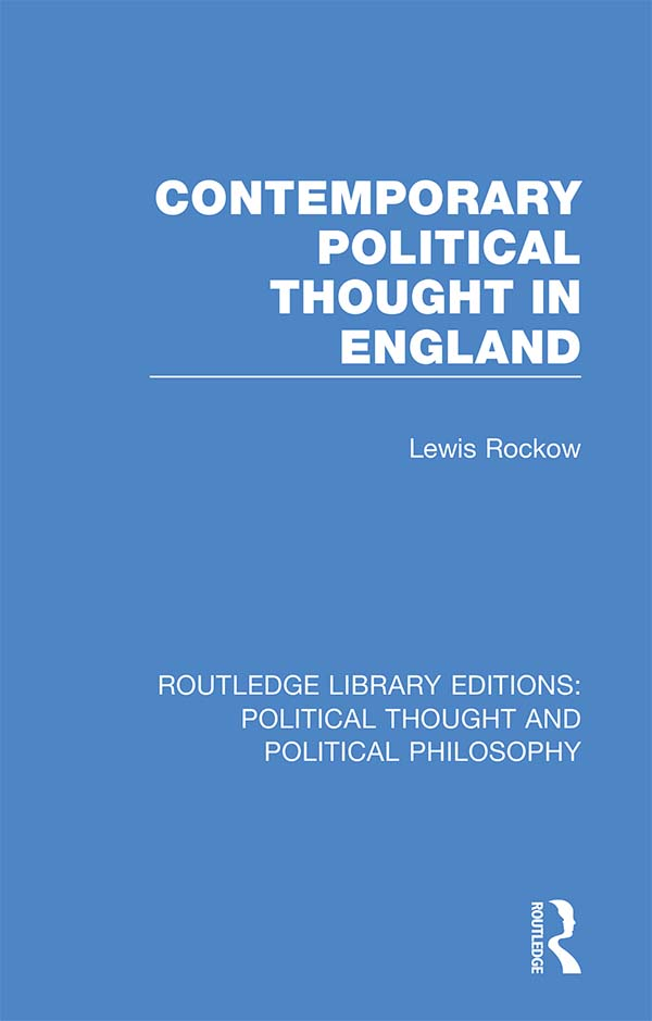 Contemporary Political Thought in England book cover