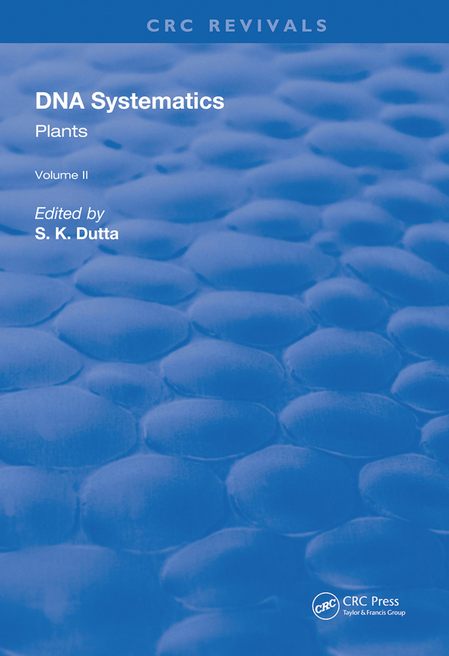 DNA Systematics: Plants book cover