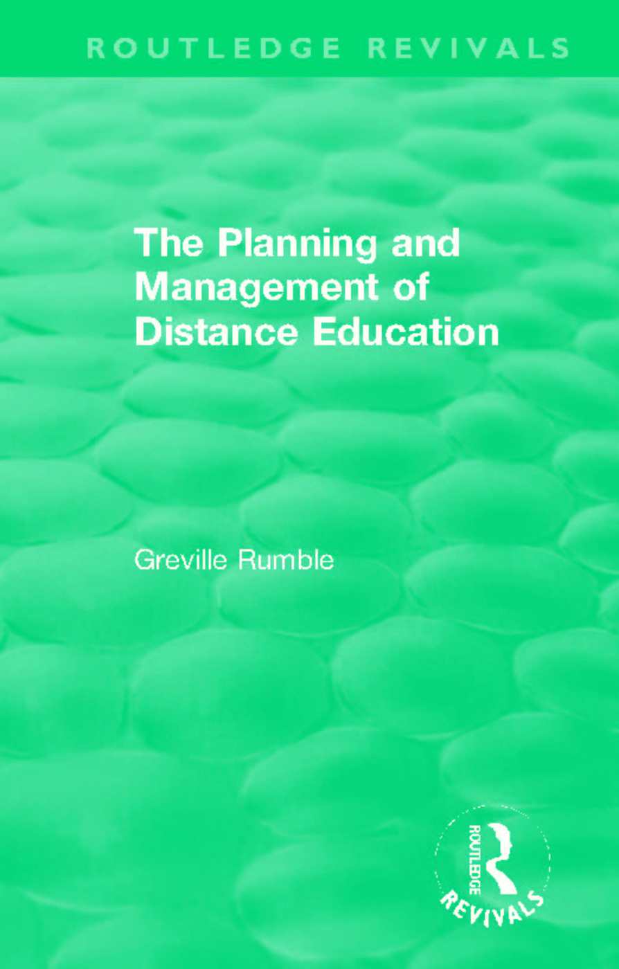 The Planning and Management of Distance Education book cover