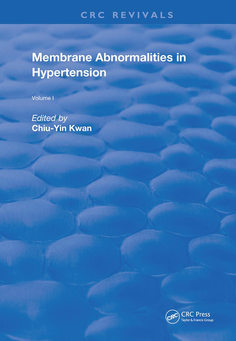 Membrane Abnormalities In Hypertension: 1st Edition (Hardback) book cover