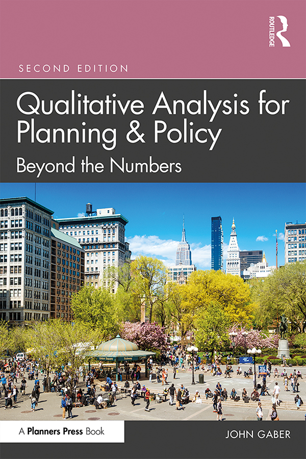 Qualitative Analysis for Planning & Policy: Beyond the Numbers book cover