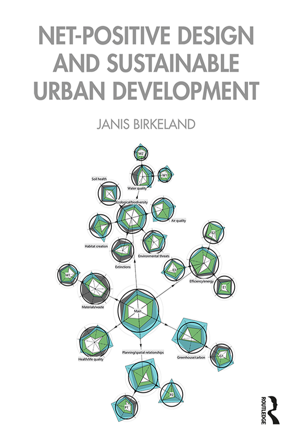 Net-Positive Design and Sustainable Urban Development: 1st Edition (Paperback) book cover