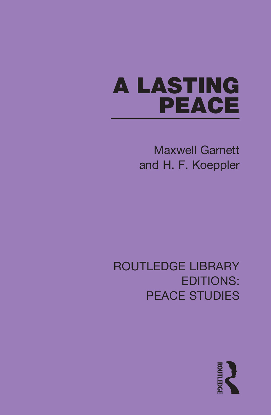 A Lasting Peace book cover