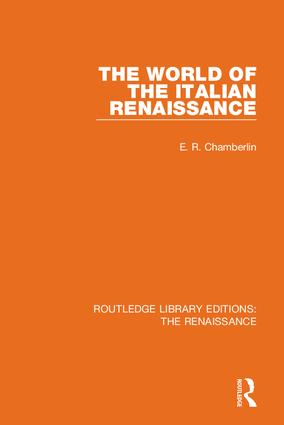 The World of the Italian Renaissance book cover