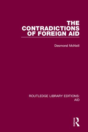 The Contradictions of Foreign Aid book cover