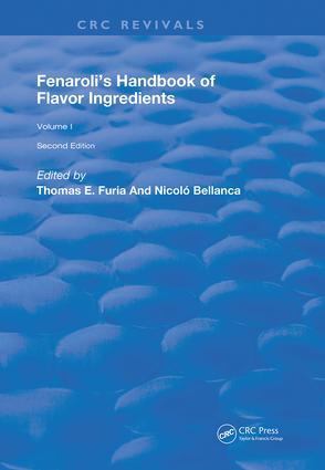 Fenaroli's Handbook of Flavor Ingredients: Volume 2, 3rd Edition (e-Book) book cover