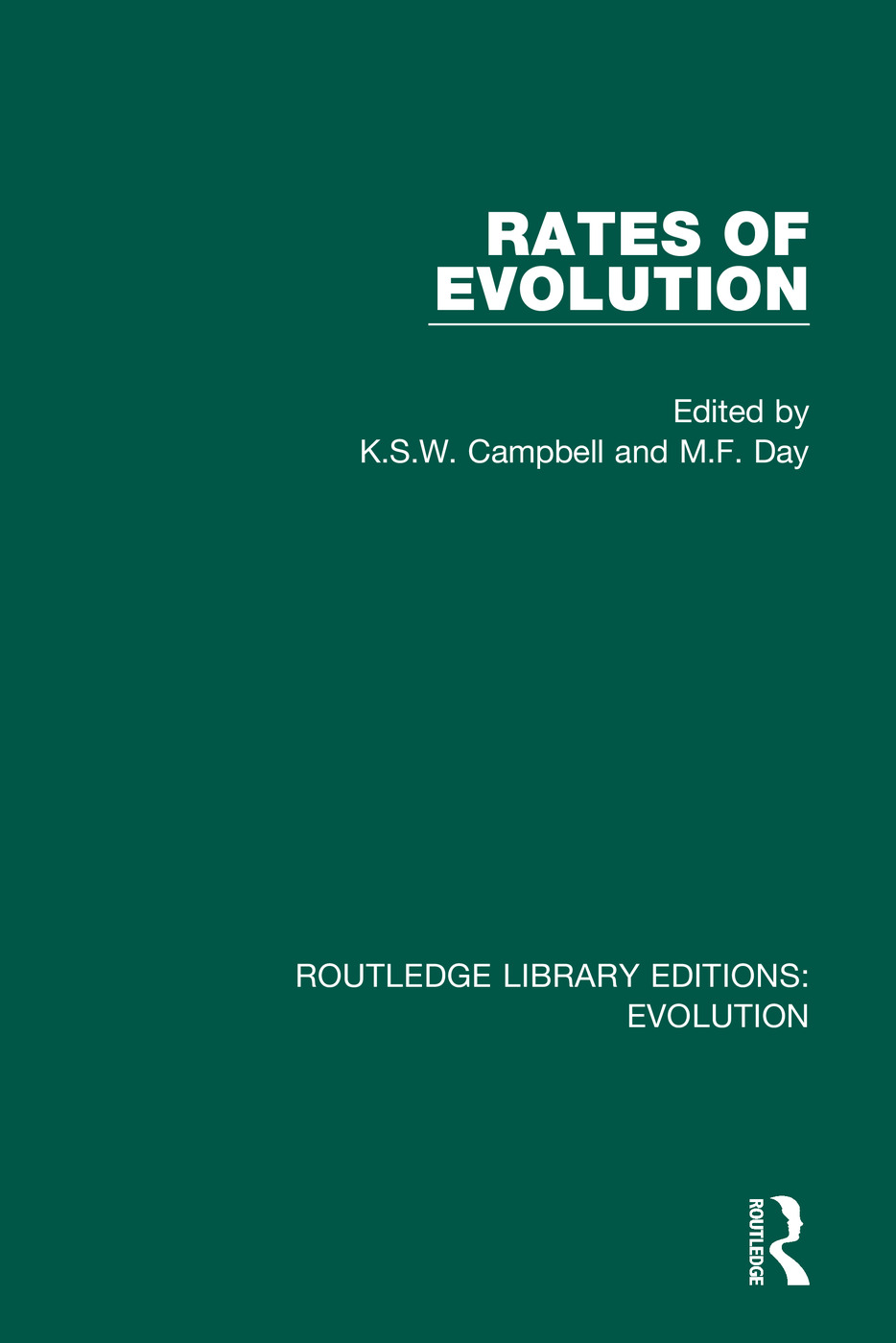 Rates of Evolution: 1st Edition (Hardback) book cover