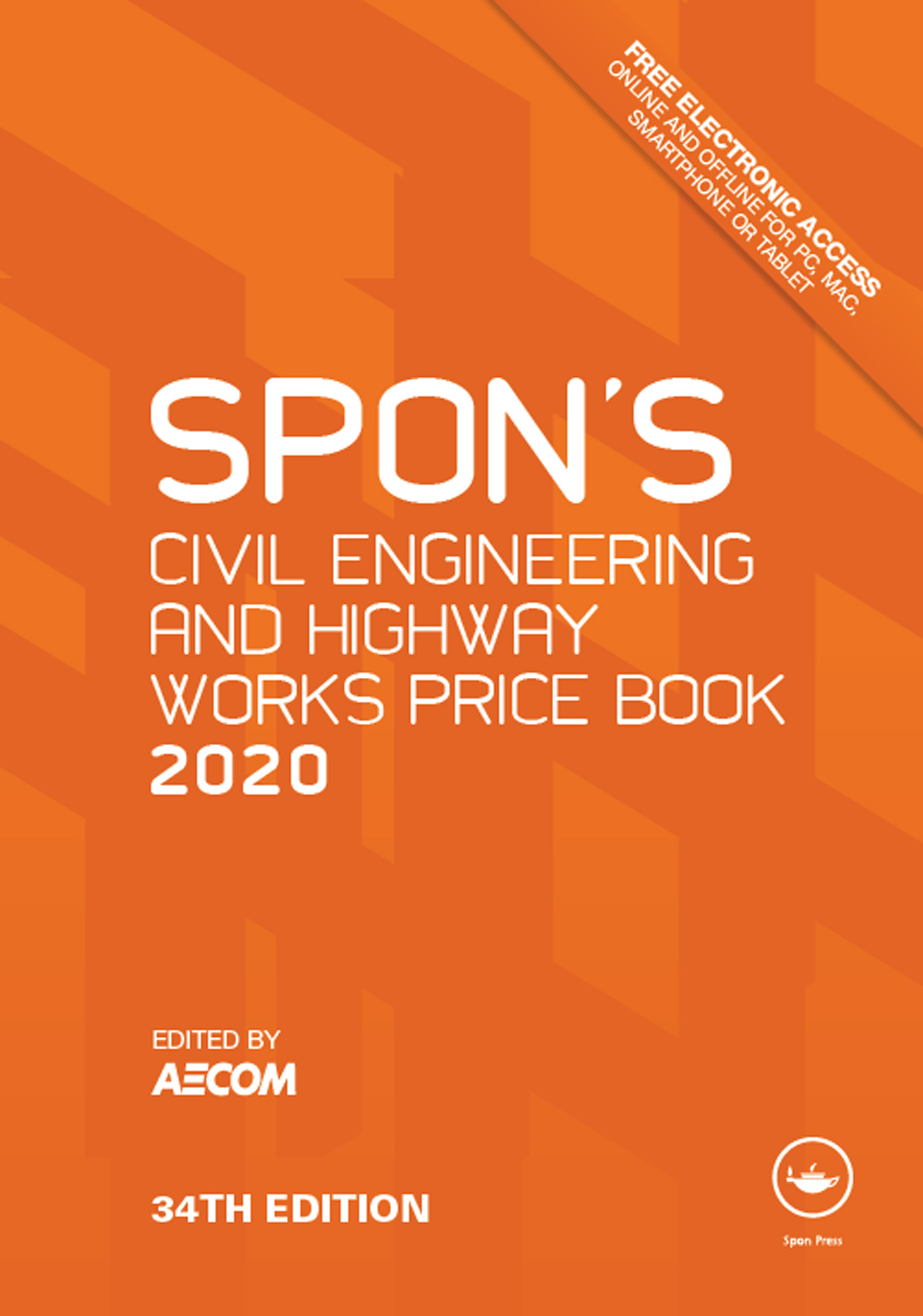 Spon's Civil Engineering and Highway Works Price Book 2020 book cover