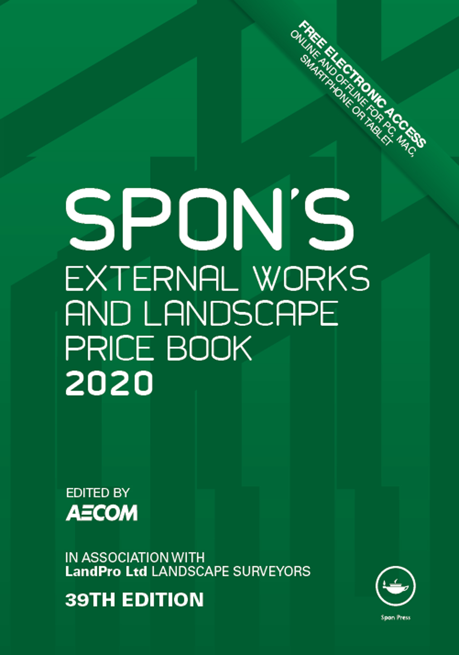 Spon's External Works and Landscape Price Book 2020 book cover
