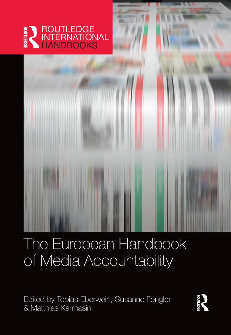 The European Handbook of Media Accountability book cover