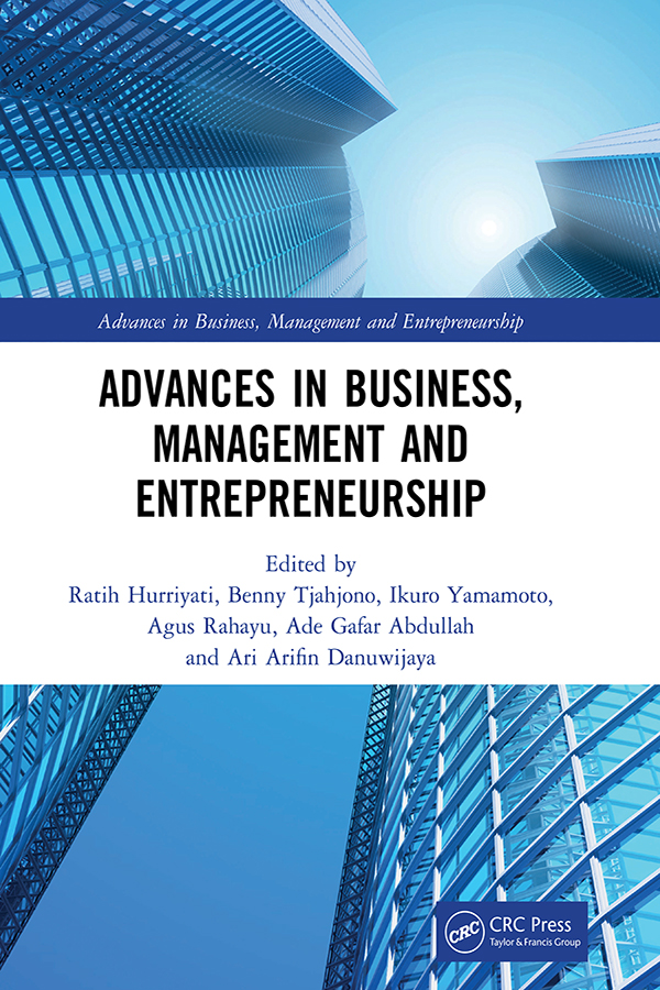 Advances in Business, Management and Entrepreneurship: Proceedings of the 3rd Global Conference on Business Management & Entrepreneurship (GC-BME 3), 8 August 2018, Bandung, Indonesia book cover