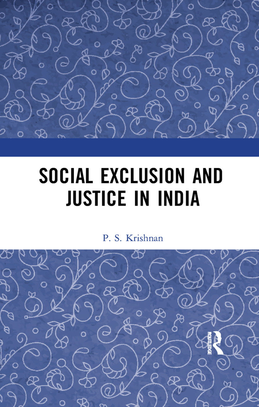 Social Exclusion and Justice in India book cover